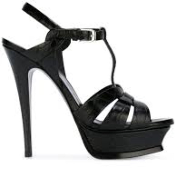 11a73fbf1f8 Yves Saint Laurent Shoes | Black Ysl Heels | Poshmark